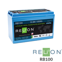 RELiON RB100 100Ah 12V Lithium Battery - Low Wholesale Price