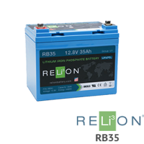 RELiON RB35 Lithium Battery - Low Wholesale Price