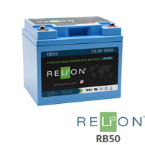 RELiON RB50 12V Lithium Battery - Low Wholesale Price