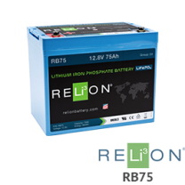 RELiON RB75 12V Lithium Battery - Low Wholesale Price