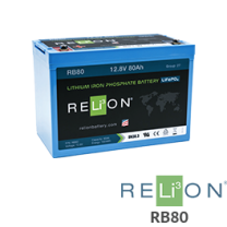 RELiON RB80 80Ah 12V Lithium Battery - Low Wholesale Price
